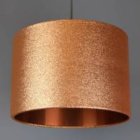 copper glitter lampshade glitter or metallic lining by ...