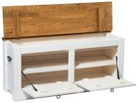 hallway storage bench shoe cabinet white 120cm wide by