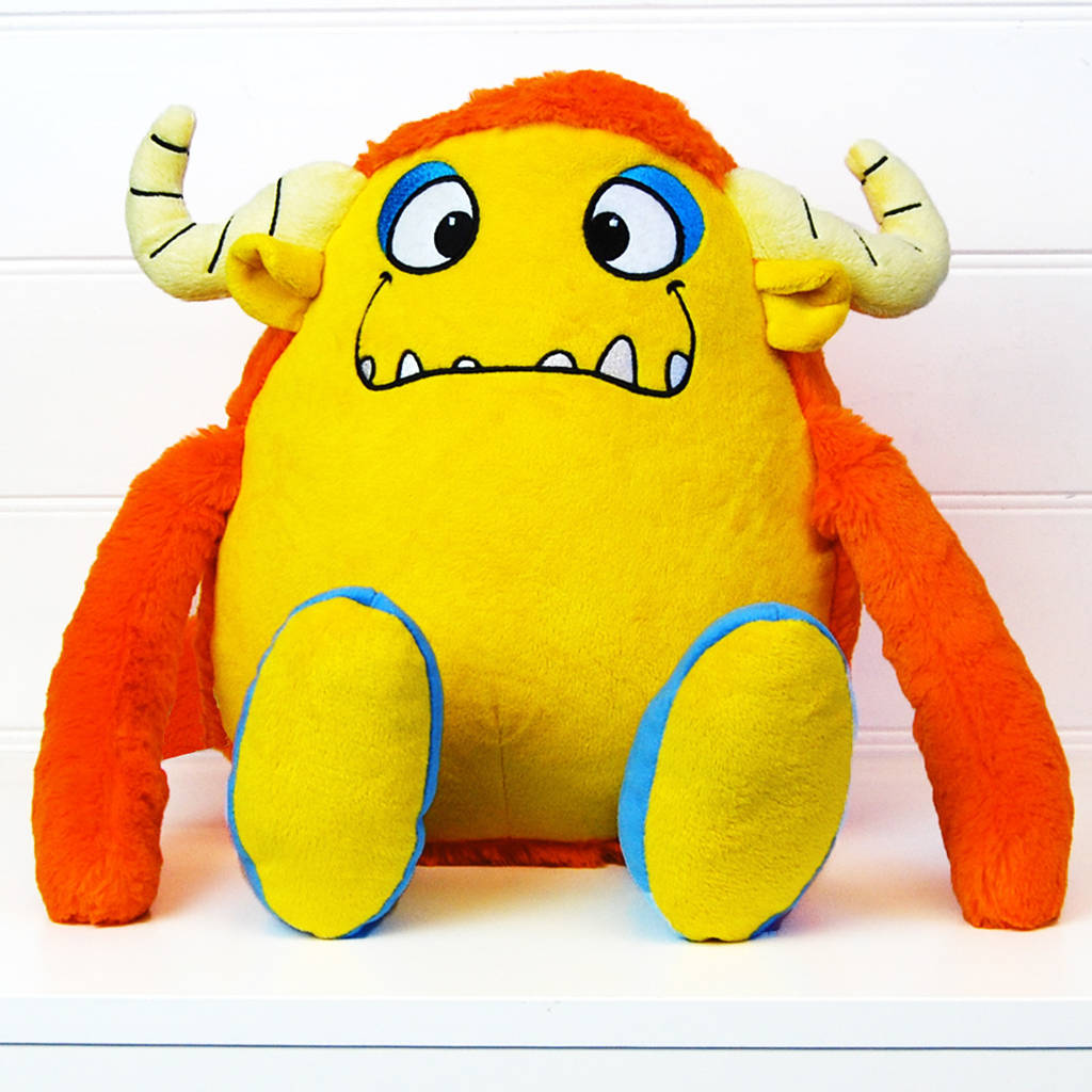 Toy Monster Personalised Cuddle Monster Soft Toy By Simply Colors