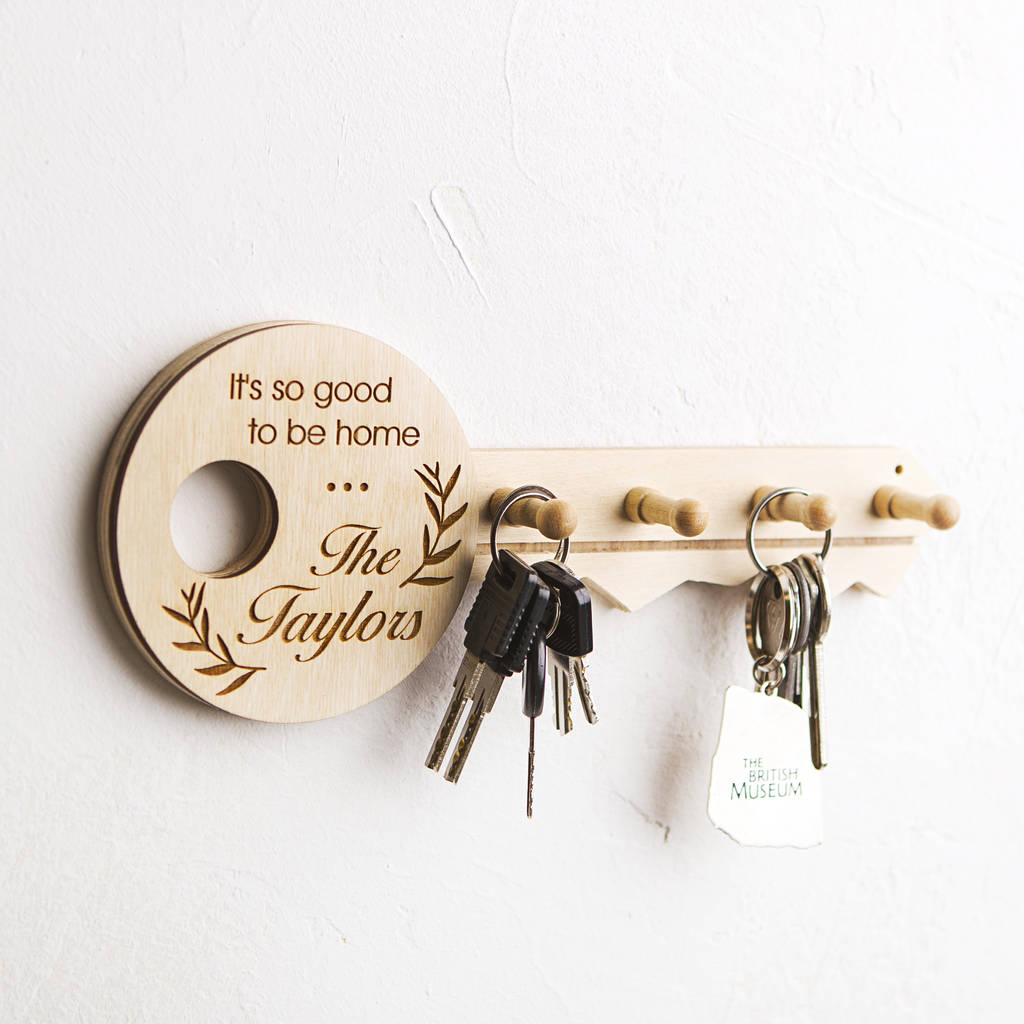Key Key Holder Personalised Wooden Key Holder By Natural Gift Store