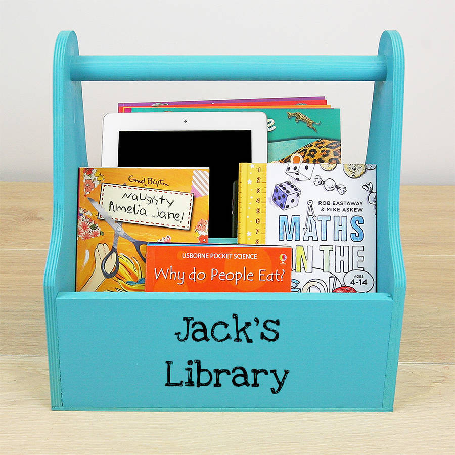 Personalised Kids Book Caddy By Plantabox