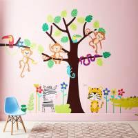 children's tropical jungle wall sticker set by parkins ...