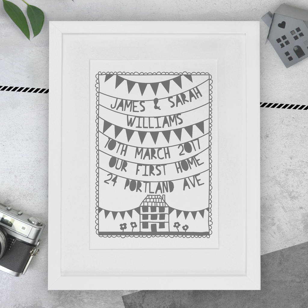 Personalised New Home Gifts Personalised First New Home Papercut Or Print