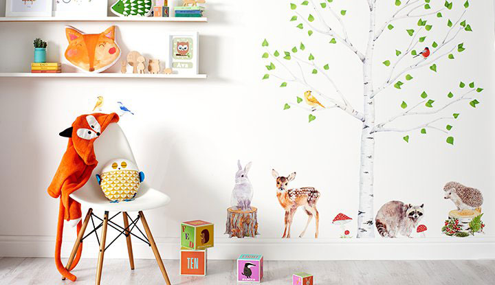 Baby Girl Nursery Wallpaper Uk Woodland Nursery Notonthehighstreet Com