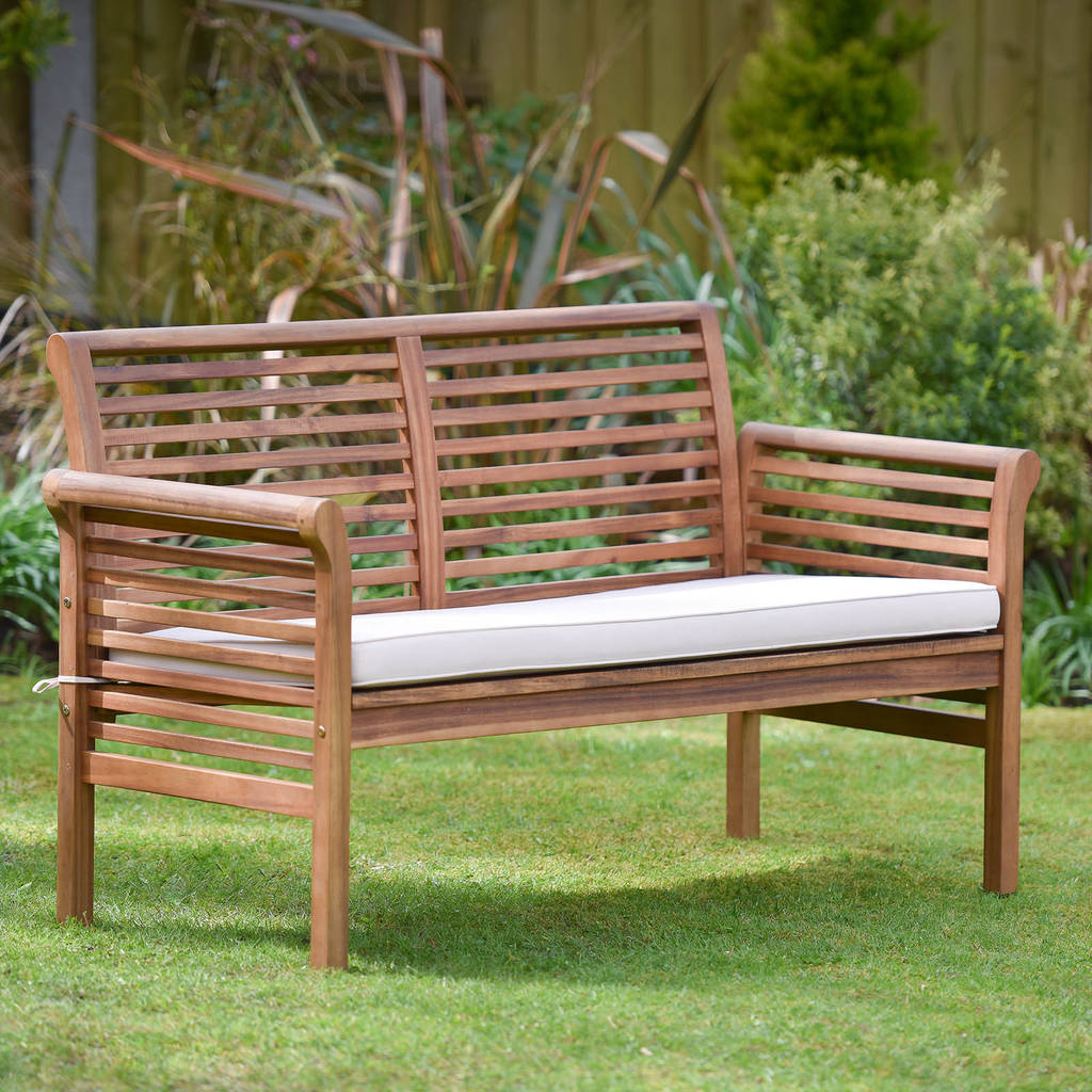 Garden Sofa Two Seater Two Seater Hardwood Garden Sofa