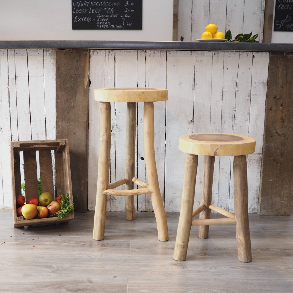 Wooden Kitchen Stools Wooden Kitchen Stool Two Sizes By Za Za Homes