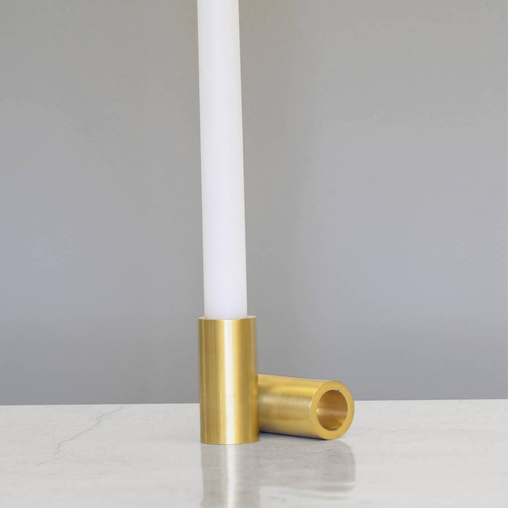 modern brass candlestick holders by pushka home