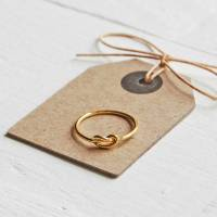 gold love knot ring by highland angel | notonthehighstreet.com