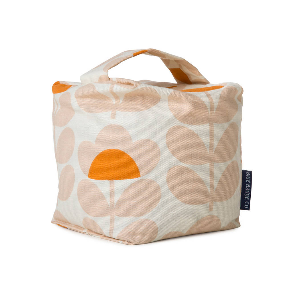 Fabric Door Stopper Fabric Door Stop In Orla Kiely Sweet Pea By Blue Badge Co