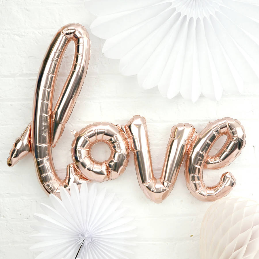 Iphone 6s Wallpaper Dimensions Rose Gold Script Love Balloon By Peach Blossom