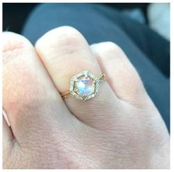 Small Of Moonstone Engagement Ring