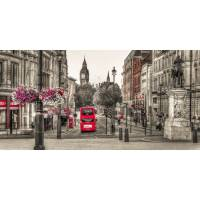 red london bus triptych canvas wall art by ta-dah wall art ...