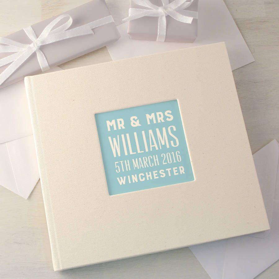 personalised typographic wedding guest book wedding photo book Personalised Typographic Wedding Guest Book