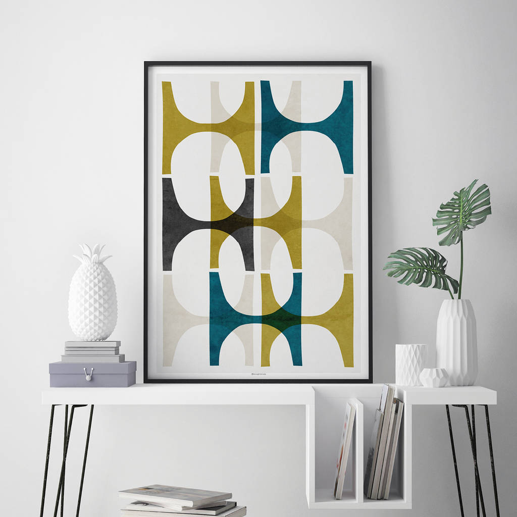 Wall Prints Abstract Geometric Wall Art Print By Bronagh Kennedy Art