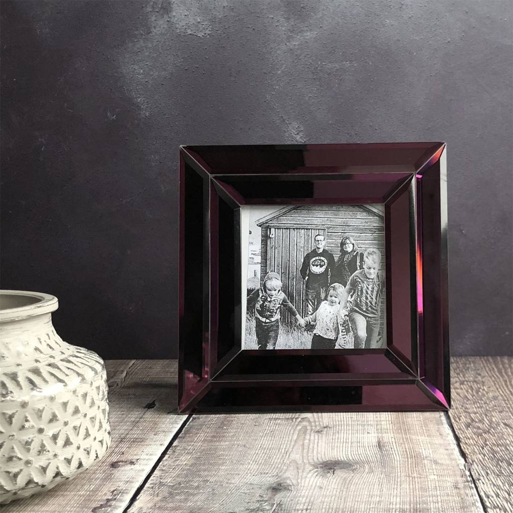 Mirrored Picture Frames Purple Mirrored Glass Picture Frame By The Contemporary