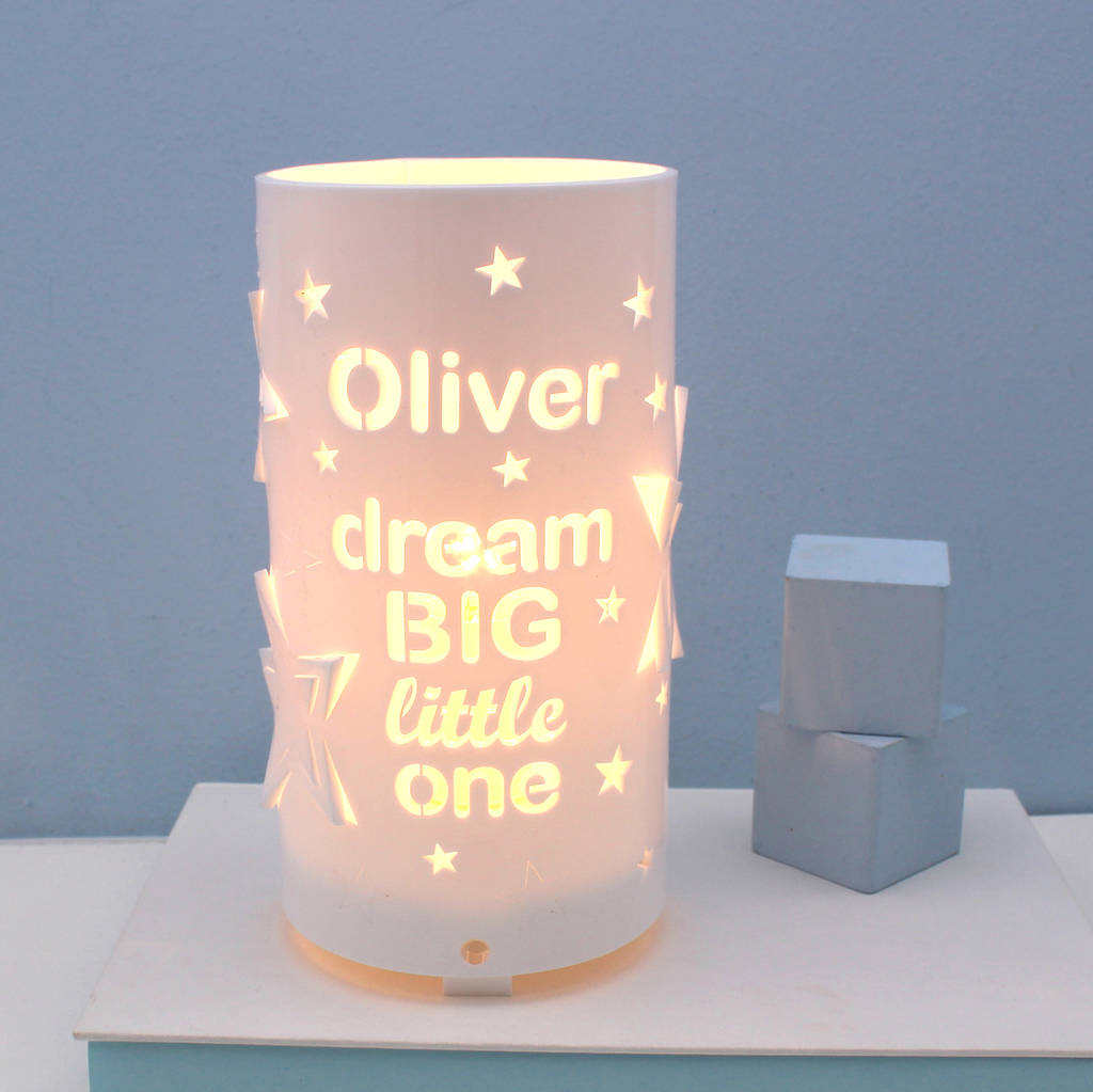 Lamp And Nightlight Personalised Dream Big Little One Star Night Light By