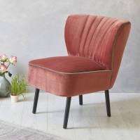 blush pink velvet mid century cocktail chair by fern ...