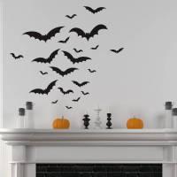 halloween bats wall sticker set by nutmeg ...