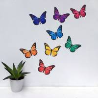 rainbow butterfly wall stickers by chameleon wall art ...