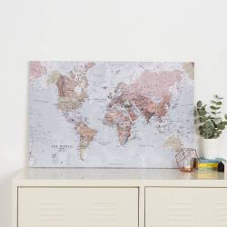 Small Of World Map Canvas