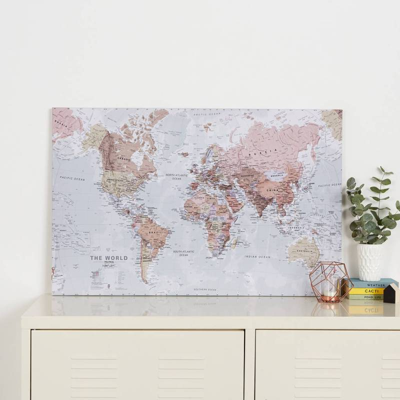 Large Of World Map Canvas