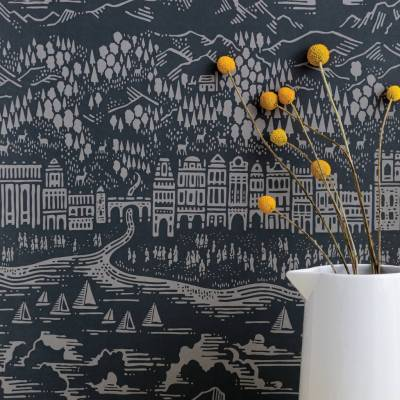 'province' town and country wallpaper by bold & noble | notonthehighstreet.com