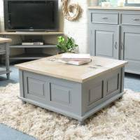 storage trunk coffee table grey or antique white by the ...