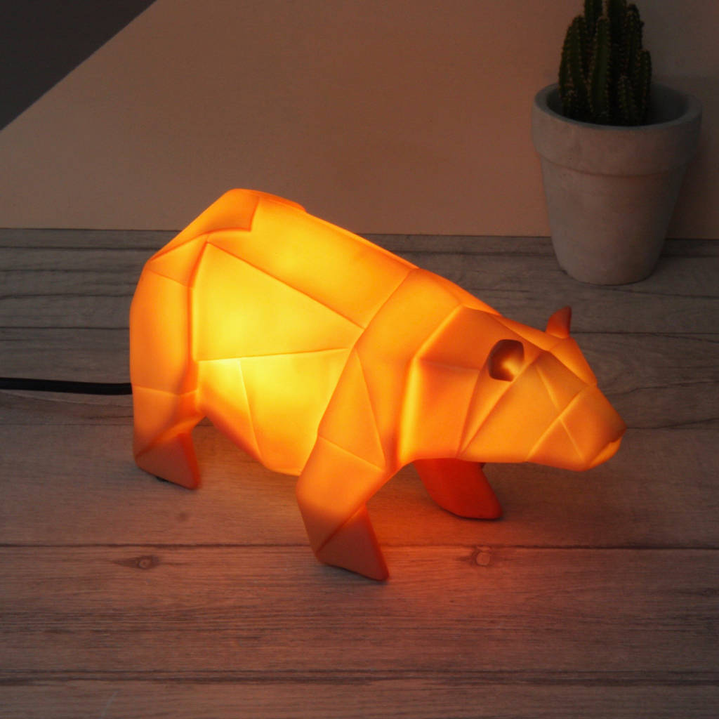 Lamp And Nightlight Origami Safari Animal Night Light By Lisa Angel