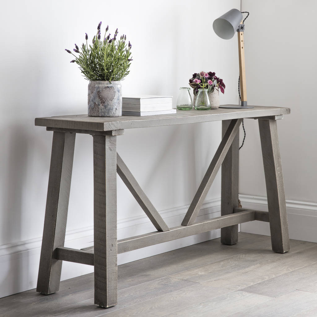Farmhouse Console Table Farmhouse Console Table Reclaimed Pine By Garden Trading