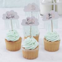 rose gold cloud shaped baby shower cupcake toppers by ...