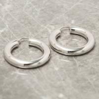 thick hoop earrings in gold or silver by loel & co ...