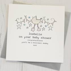 Absorbing Personalised Baby Shower Cream Personalised Baby Shower Card By Eggbert Daisy Baby Shower Card Message Ny Baby Shower Card Maker