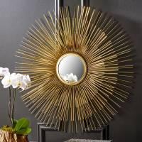 triple layer sunburst wall mirror by ella james ...