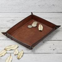 personalised leather coin tray by life of riley ...