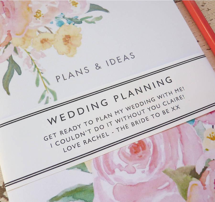 wedding plans notebook by little cherub design notonthehighstreet