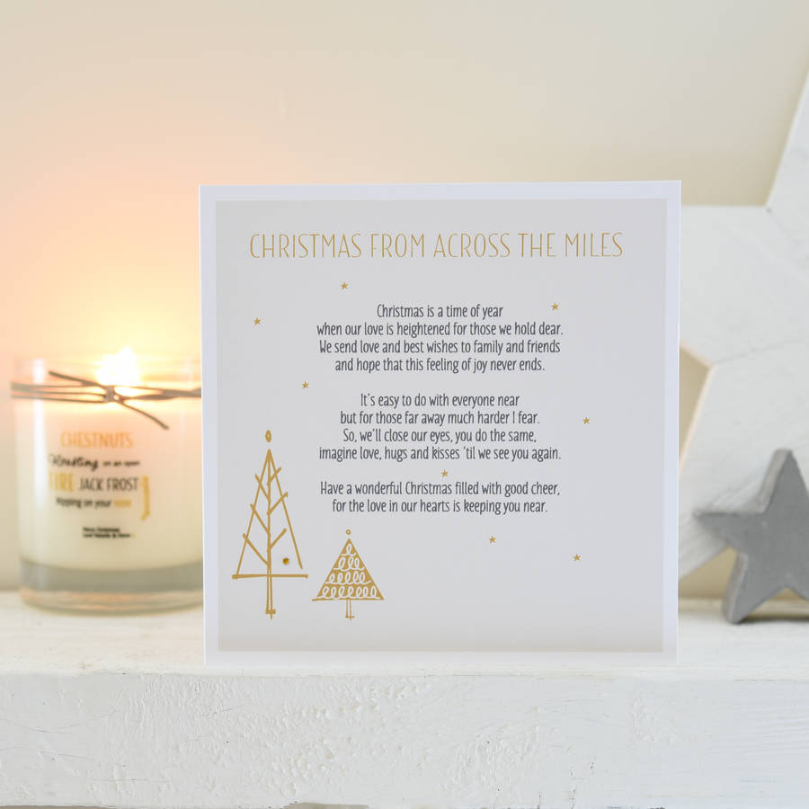 Stylish Verse Verses Cards To Print Personalised Across Miles Card Personalised Across Miles Card By A Touch Greeting Cards Verses inspiration Christmas Verses For Cards