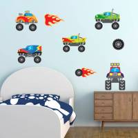 monster truck wall stickers by mirrorin ...