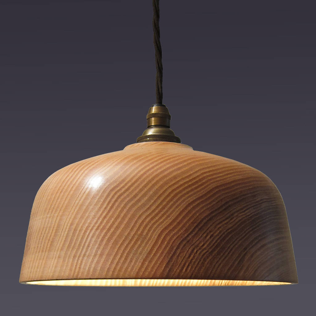 Wooden Lighting Pendants Loft Bell Wooden Ceiling Pendant Light By Orinoko Design