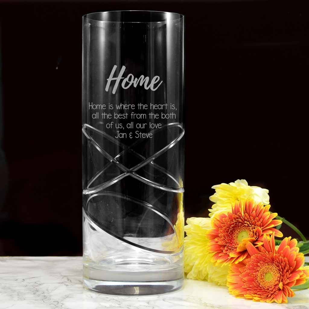 High End Housewarming Gifts Personalised Housewarming Gifts Vase Cylindrical By