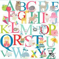 bright alphabet wall stickers by littleprints ...