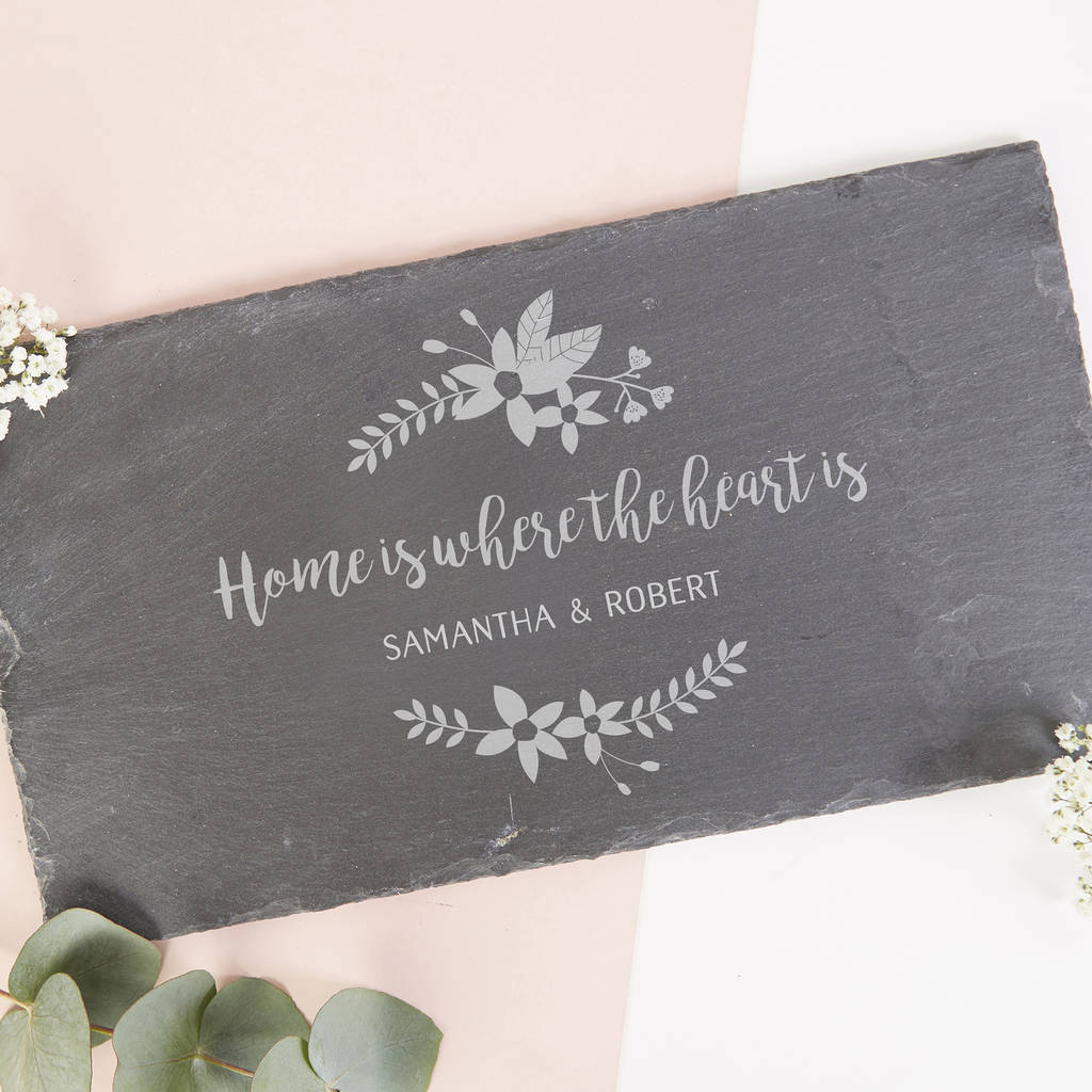 High End Housewarming Gifts Personalised Housewarming Gift Slate Serving Board By