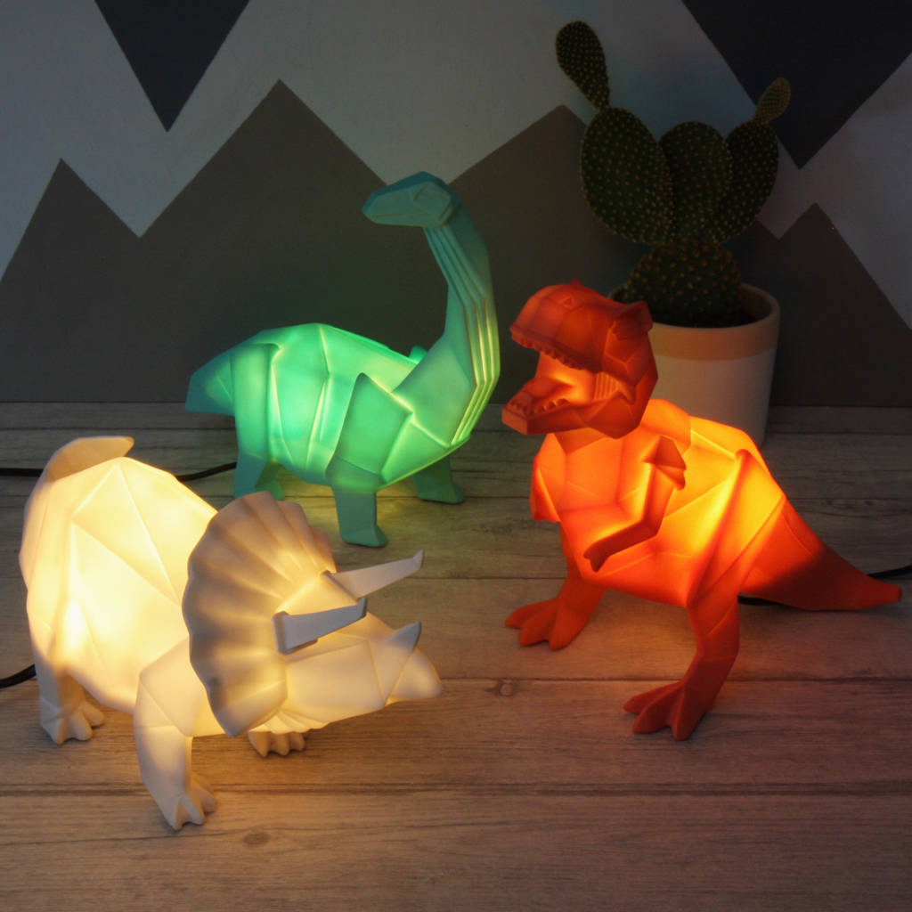 Nightlights For Children Origami Plug In Dinosaur Night Light By Lisa Angel