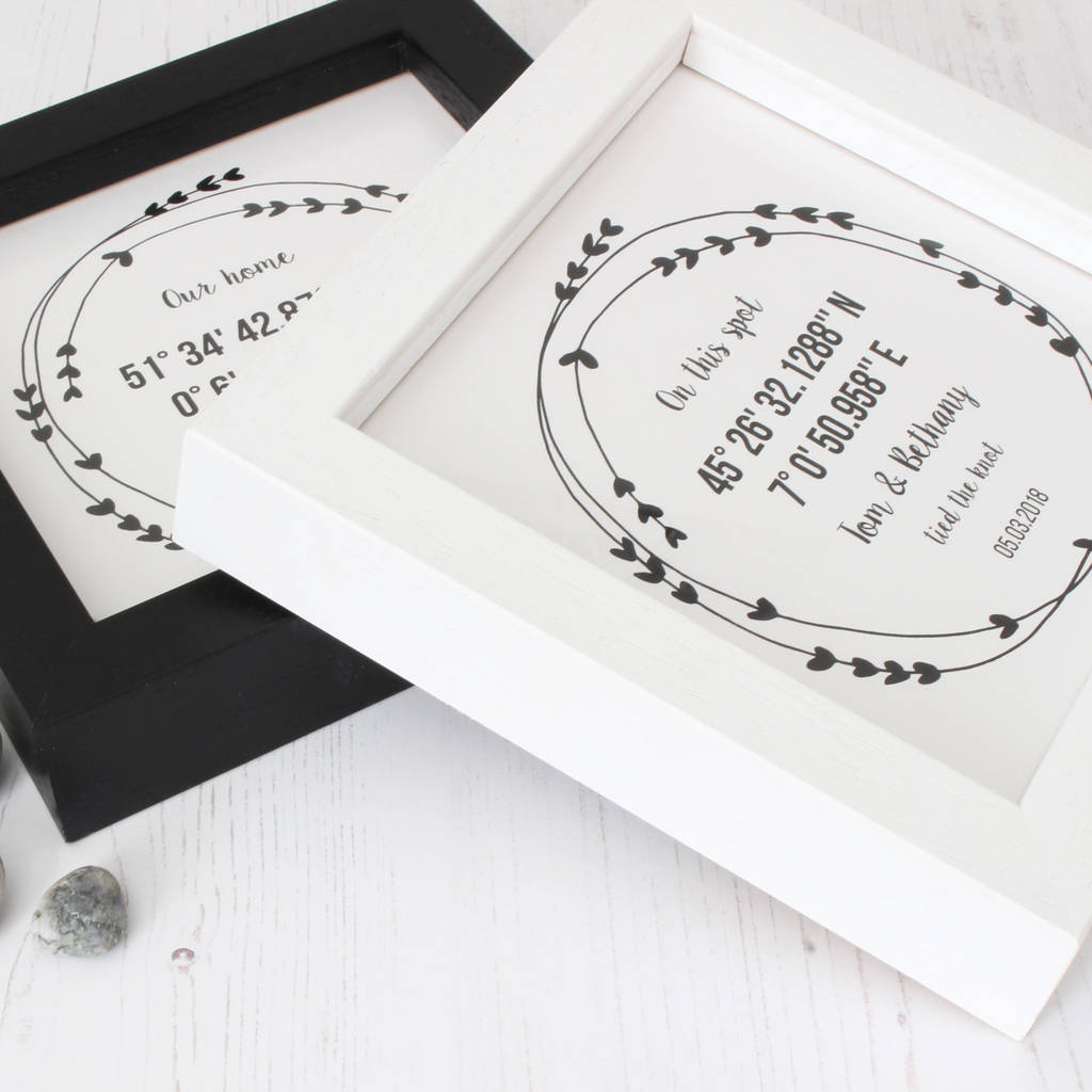 Personalised New Home Gifts Personalised Coordinates New Home Gift