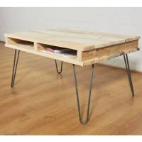 reclaimed pallet wooden coffee table hairpin legs by ...