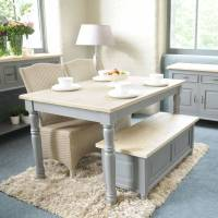 Grey Painted Dining Room Furniture - [peenmedia.com]