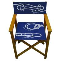 nautical knot print garden director chair by more by ...