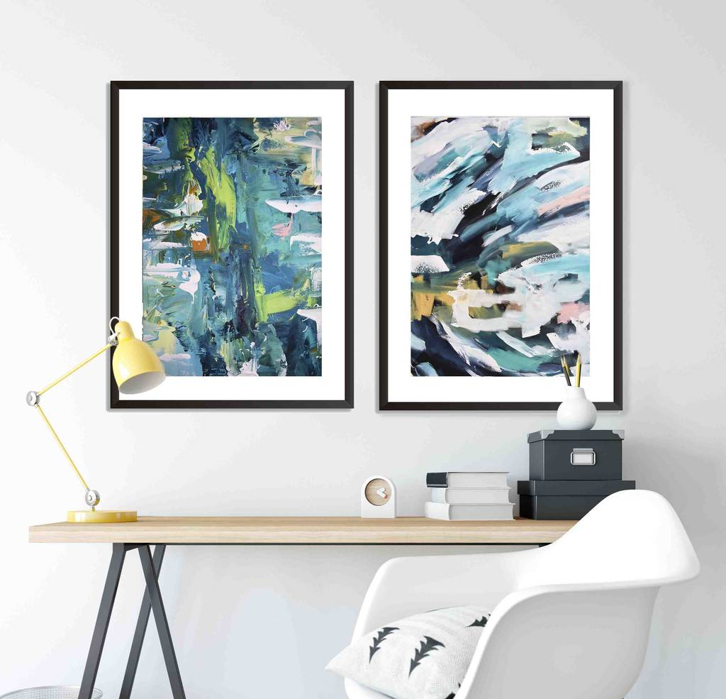 Wall Art Prints And Posters Abstract Prints Set Wall Art Framed Posters