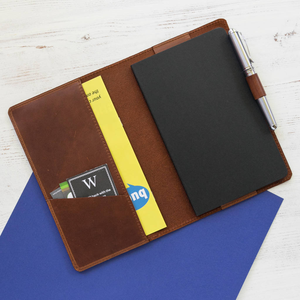 Moleskine A5 Personalised Moleskine Leather Notebook Cover