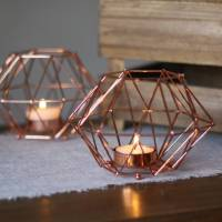 copper geometric candle holder by the wedding of my dreams