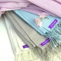 bespoke cashmere pashmina shawl by plum & ivory